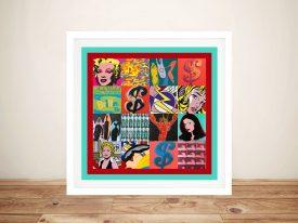 Buy Retro Pop Art 4 Framed Canvas Wall Art