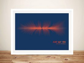 Buy a Just Say Yes Snow Patrol Soundwave Print