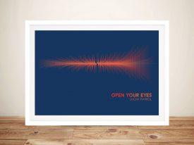 Snow Patrol Open your Eyes Soundwave Art