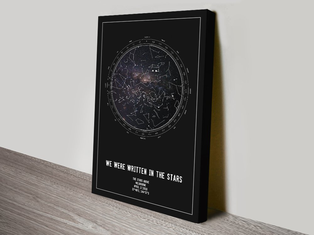 Personalised Star Map Canvas Print