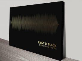 The Rolling Stones Paint It Soundwave Canvas print