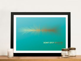Buy Don't Stop Believing Soundwave Canvas Print