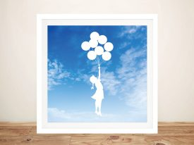 Buy Balloon Girl Sky White Graffiti Style Art