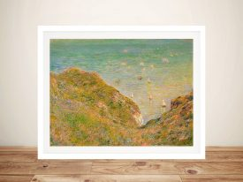 Buy On the Cliff at Pourville Framed Art