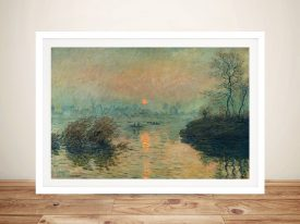 Buy a Monet Print of Sunset on the Seine