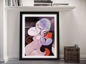 Buy Nude Woman in a Red Armchair Wall Art