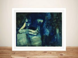 Buy a Brooding Woman Framed Canvas Print