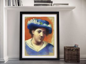 Buy a Woman with a Flowered Hat Print