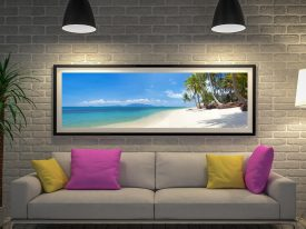 Buy Paradise Palms Surfscape Panoramic Art