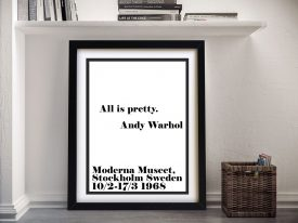 Buy All is Pretty Framed Typographic Canvas Art