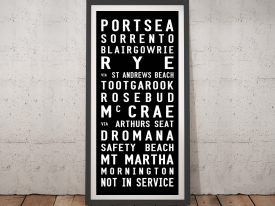Buy a Framed Canvas Portsea Tram Scroll