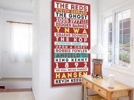 Liverpool Legends Red Retro Art