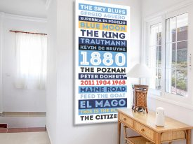 Buy Man City FC Tram Scroll Art Cheap Online