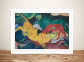 Buy a Print of The Yellow Cow by Franz Marc