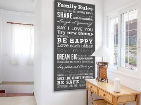 Buy a House Rules Tram Banner in Grey & White