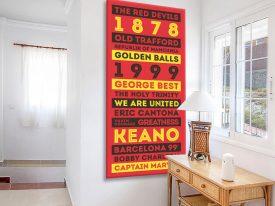 Buy Retro Manchester United Tram Scroll Art