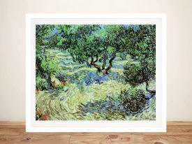Olive Grove-by Van Gogh Framed Wall Art