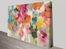 Colourful Garden I Crop Abstract Art by Silvia Vassileva