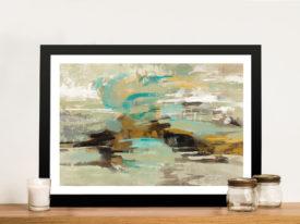 Hidden Lagoon Abstract Framed Wall Art Australia
