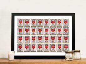Campbells 32 Cans of soup Warhol Pop Art