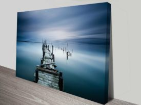 the old pier custom print photo on canvas online