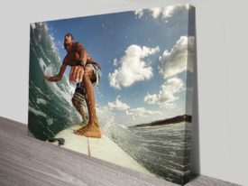 Catching Waves Surfing Action Sports Photography Canvas Wall Art