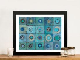 Underwater Mosaic Crop-Silvia Vassileva Framed Wall Art