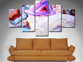 Elena Kulikova 5 Panel Abstract Canvas Print