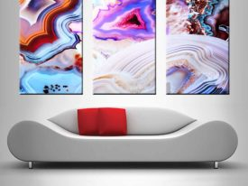 metamorphic rock-abstract triptych wall canvas art