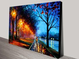 Alley by the Lake leonid afremov canvas print