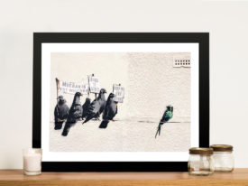 Banksy Migrant Birds Framed Wall Art