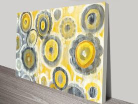 Abstract Circles Crop on Canvas Print Arts Online Gallery