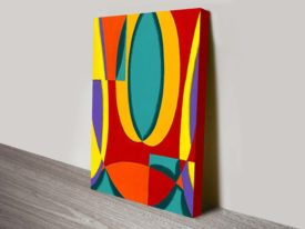 Abstract Curious Faces Abstract Canvas Wall Art