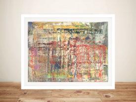 Abstract Picture Gerhard Richter Framed Wall Art