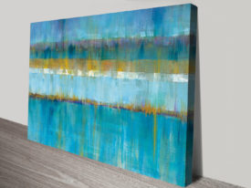 Abstract Stripes Cropped Print Giclee Wall Art