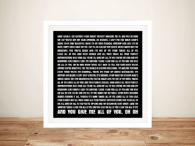All of Me John Legend Framed Wall Art