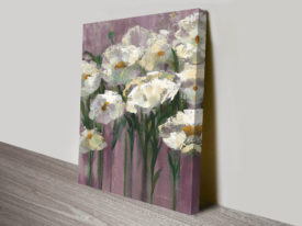 Anemones by the Lake Purple II Wall Canvas Print