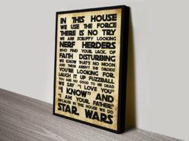 Star Wars House Rules Wall Art Print