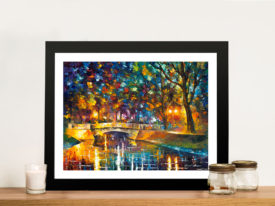 Bridge of Impressions Leonid Afremov Framed Art