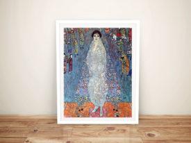 Baroness Elisabeth Bachofen by Klimt Framed Wall Art