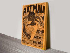 Batman Poster Bill Graham Wall Art on Canvas