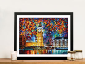 Big Ben London Afremov Framed Wall Art
