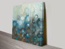 Blue and Bronze Dots VII Danhui Nai Artwork Print