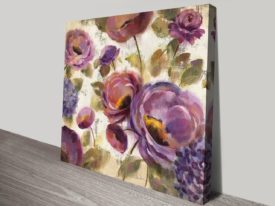 Blue and Purple Flower Song II Online Canvas Perth Sale