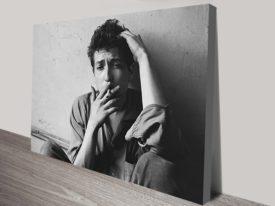 Bob Dylan cigarette Canvas Art Print
