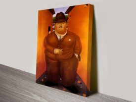 Botero The Road Canvas print