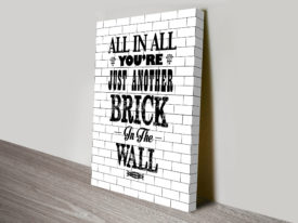 Pink Floyd Brick in the Wall Song Lyrics Art
