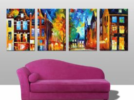 Bridges of Amsterdam 4 Panel canvas