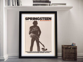 Bruce Springsteen Born to Run Poster Framed Wall Art
