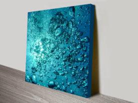 Water Bubbles Canvas Art